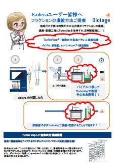 Isoleraユーザー皆様へ 高速濃縮方法(TurboVap)のご提案