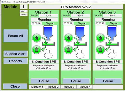 SPE-DEX 5000 Disk Extraction System Running